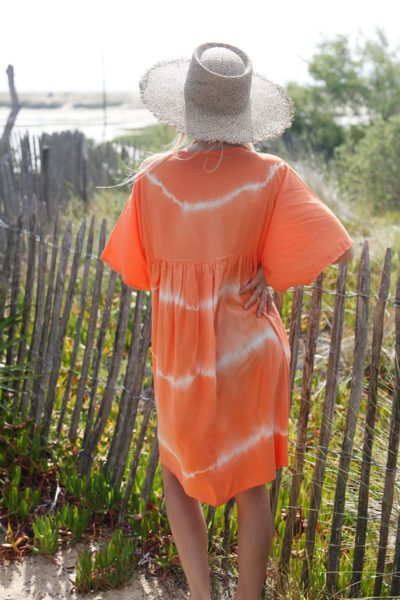 Robe-fluide-orange-tie&dye-c48