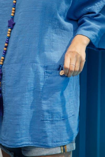 Tunique-bleue-à-poches-c101