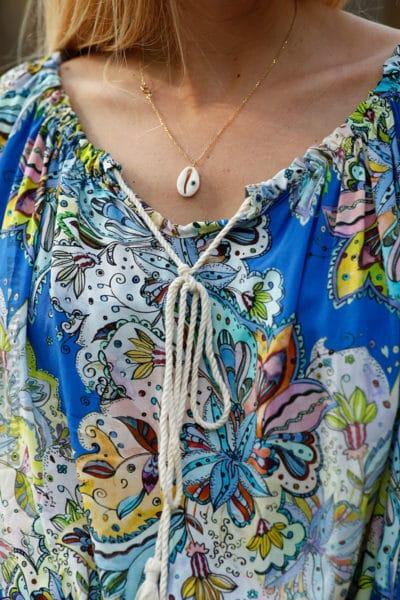 Tunique-fond-bleu-roi-imprimé-fleurs-tropicales--c102-3