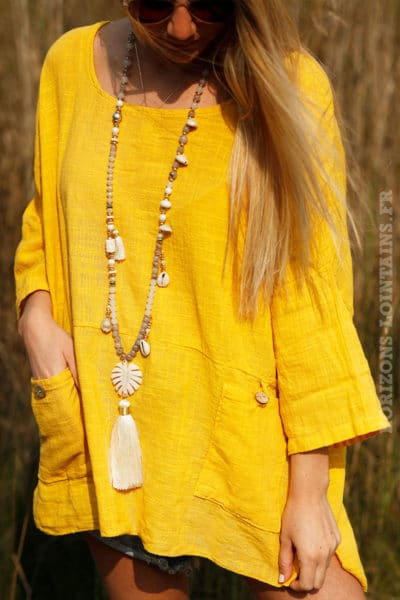 Tunique-jaune-à-poches--c101
