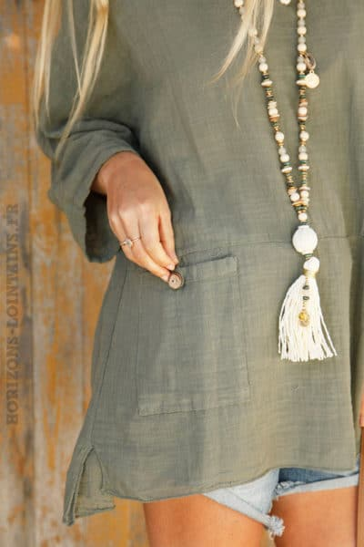 Tunique-kaki-à-poches--c101