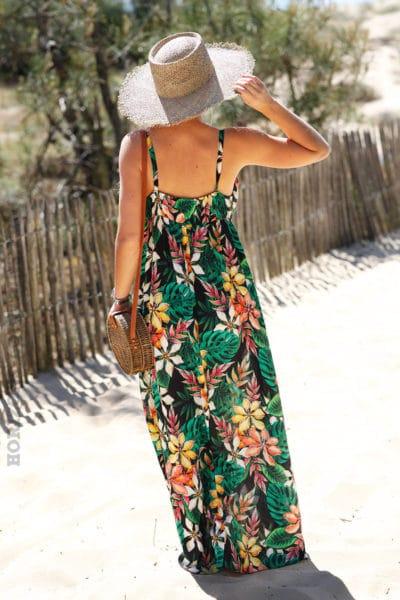 Robe-longue-à-bretelles-imprimé-tropicale-c77