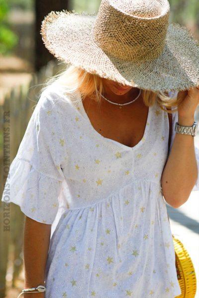 blouse-blanche-manches-courtes-imprime-etoiles-dorees-C143