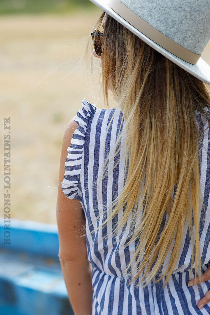 Combipantalon-blanche-à-rayures-bleu-jean-c04