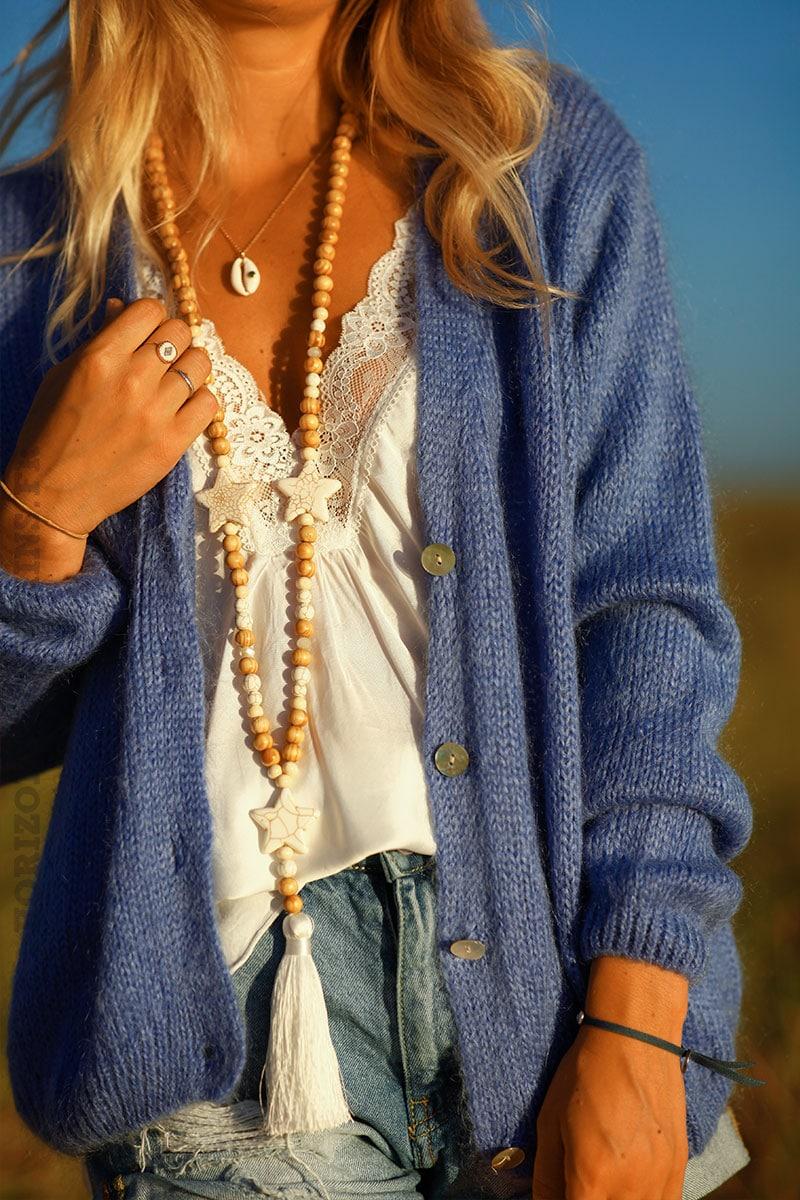 Gilet-court-mailles-bleu-lavande-boutonné-gilets-femme-look-automne-cardigan-léger-C019-3