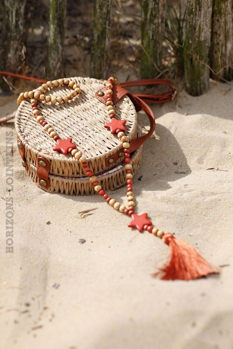collier-étoile-perles-bois-terracotta