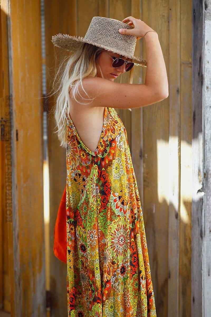 robe-longue-imprimé-rosaces-nuances-jaune-orange-C122
