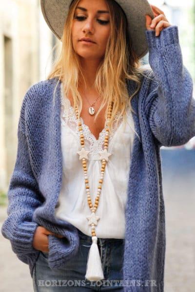 Gilet-bleu-jean-grosses-mailles-veste-femme-automne-look-bohème-hippie-C020
