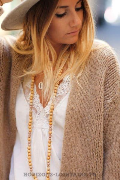 Gilet-marron-glacé-clair-grosses-mailles-veste-femme-automne-C020