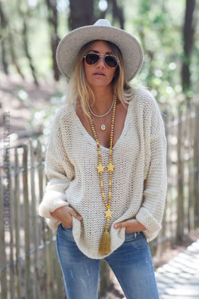 Pull-beige-maille-point-mousse-c180