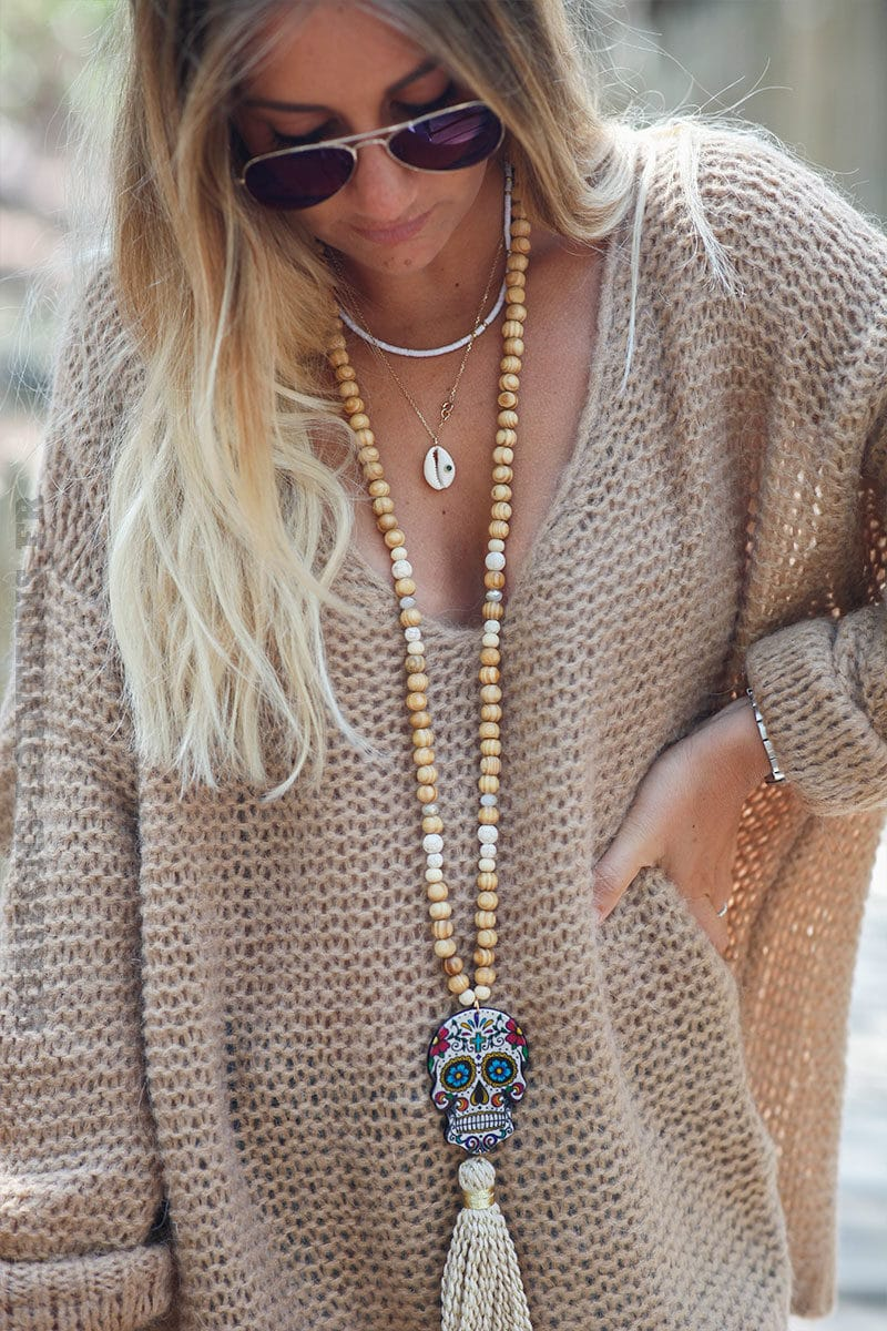 Pull-camel-maille-point-mousse-c180