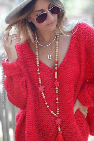 Pull-rouge-maille-point-mousse-c180-4