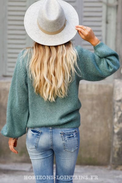 Pull-vert-celadon-col-rond-maille-mohair-top-automne-hiver-femme