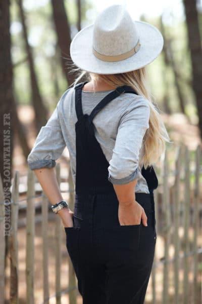 Salopette-noire-jean-noir-vêtement-femme-détail-boutons