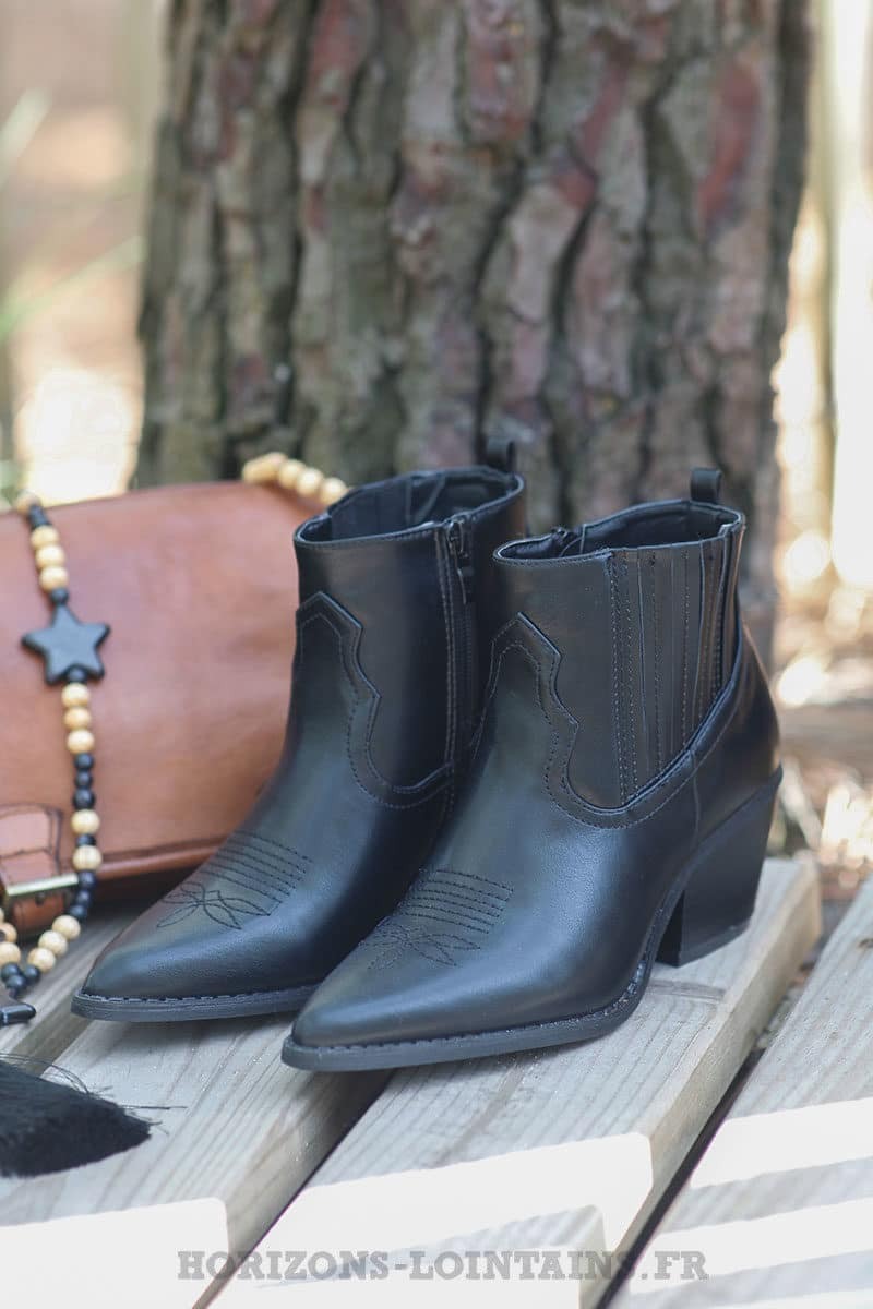 Bottines-noir-simili-cuir-c035