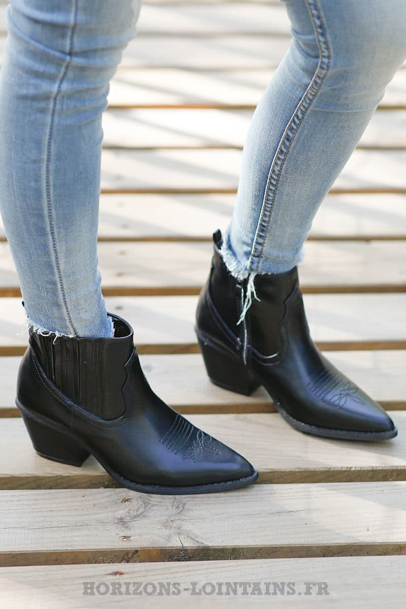 Bottines-noir-simili-cuir-c035