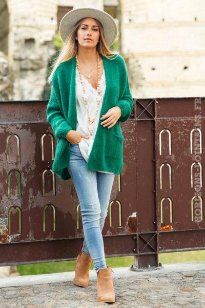 Gilet-femme-vert-col-enveloppant-poches-look-hippie-esprit-bohème-dos