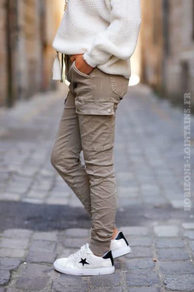 Pantalon-cargo-beige-avec-ceinture-élastique--c34