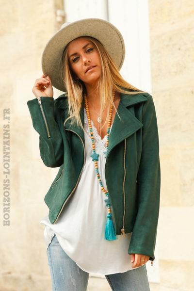 Perfecto-vert-bouteille-en-suédine--c201