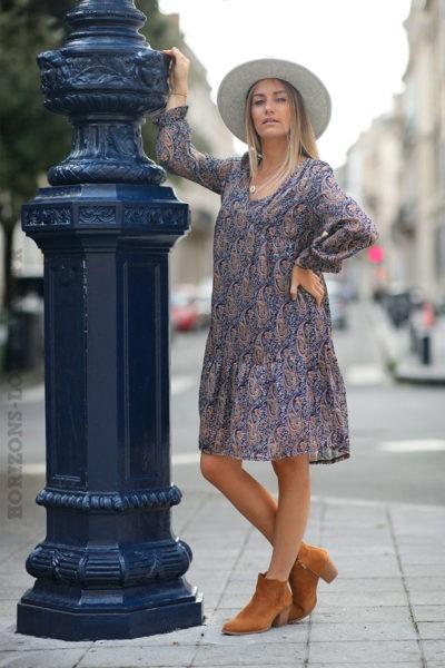 Robe-courte-bordeaux-imprimé-cachemire--C158-7