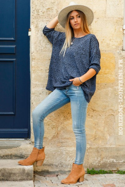 Top-bleu-jean-matière-jersey-imprimé-léopard-teeshirt-femme-bohème-esprit-hippie-rock-look-dos