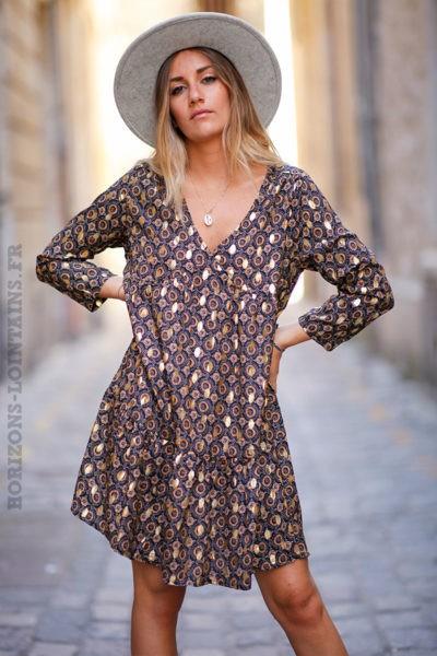 robe-courte-voilage-c141-noir-2