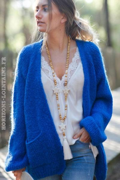 Gilet-bleu-grosses-mailles-manches-raglan-avec-poches-esprit-bohème-hippie-C029-3