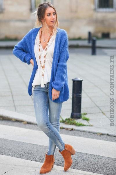 Gilet-bleu-roi-mohair-avec-poches-vêtement-femme-esprit-bohème-look-hippie-idées-tenues