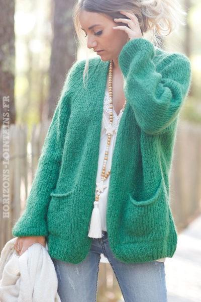 Gilet-vert-grosses-mailles-manches-raglan-avec-poches-esprit-bohème-hippie-C029-2