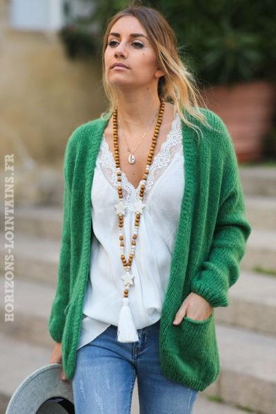 Gilet-vert-mohair-avec-poches-vêtement-femme-esprit-bohème-look-hippie-C031