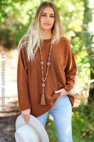 Pull-bicolore-camel-avec-cachemire-top-femme-automne-hiver-esprit-bohème-chic-C225