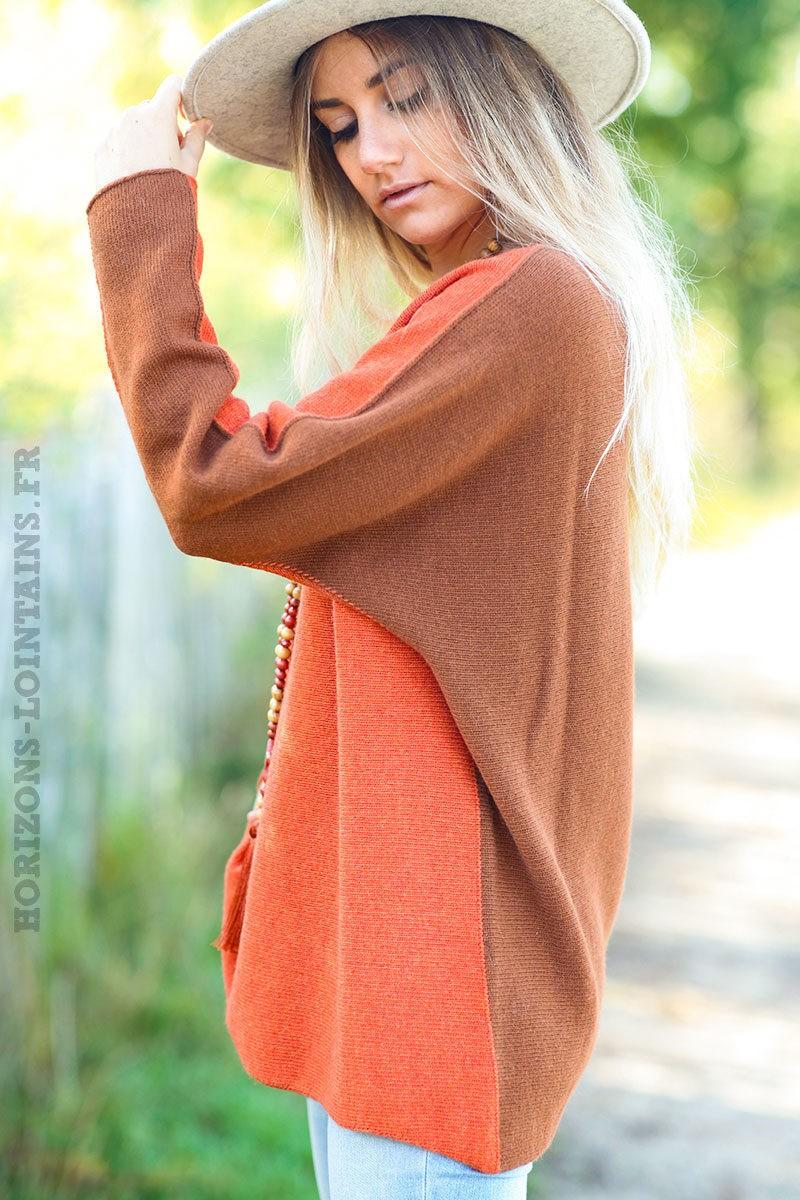 Pull-bicolore-orange-brique-avec-cachemire-top-femme-automne-hiver-esprit-bohème-chic-C225