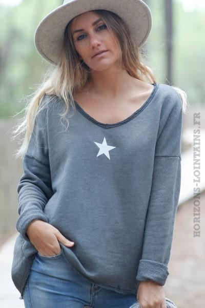 Pull-gris-confort-avec-étoile-c216