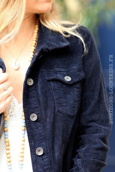 Veste-bleu-marine-courte-matière-velours-manteaux-femme-esprit-bohème-hippie-C211-06