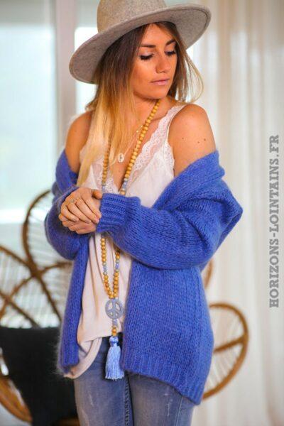 Gilet-bleu-grosses-mailles-vêtements-femme-esprits-bohème-hippie-C020