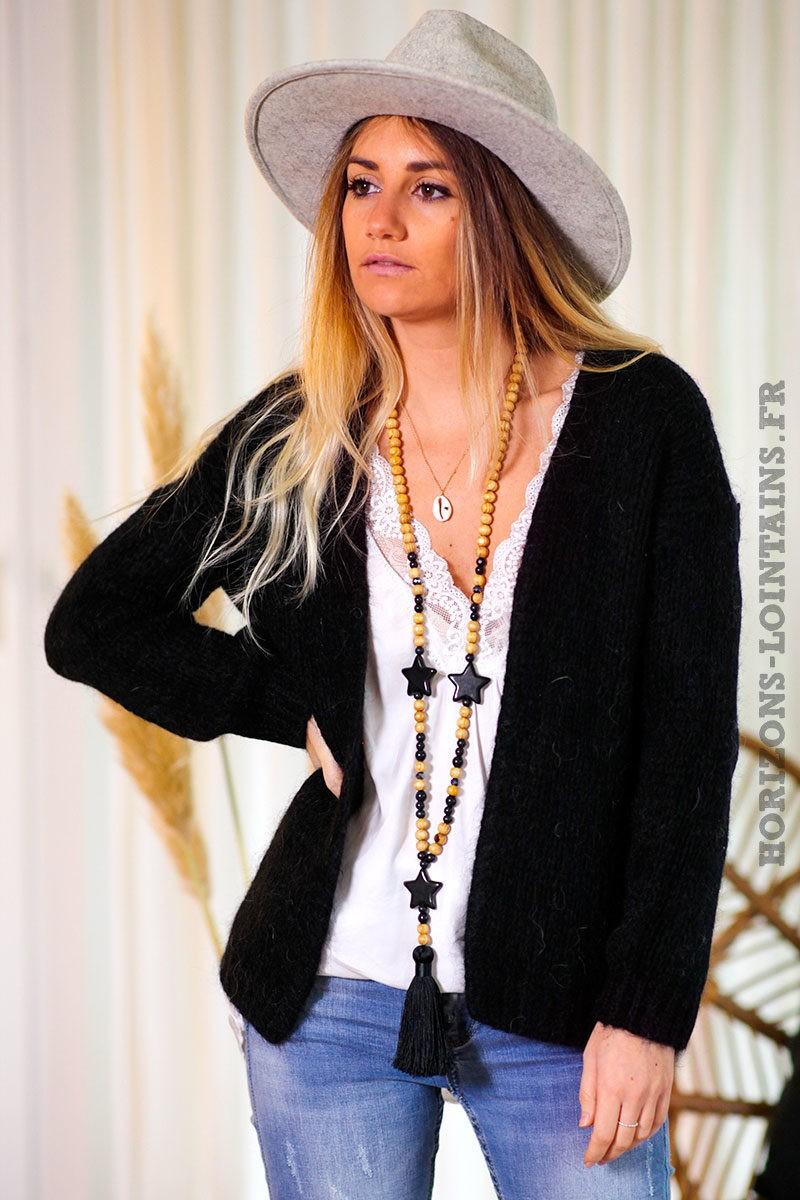 Gilet-noir-grosses-mailles-vêtements-femme-esprits-bohème-hippie-C020