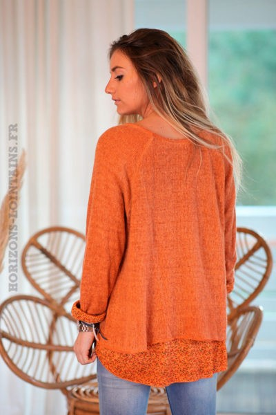 Pull-orangé-avec-superposition-liberty-c223