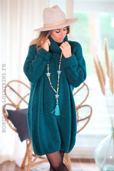 Robe-pull-bleu-canard-col-roulé--c167