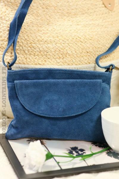 Sac-bandoulière-bleu-jean-grande-poche-cuir-velours