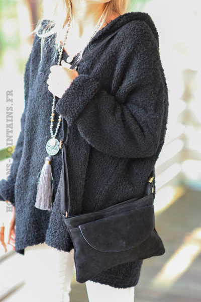 Sac-bandouliere-noir-cuir-velours-
