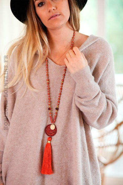 collier-perles-orange