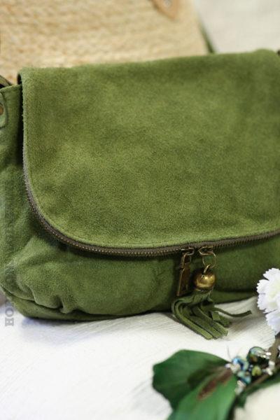 sac-besace-vert-olive-rabat-fermeture-cuir-velours