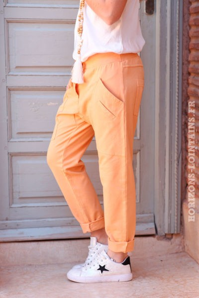 Pantalon-de-jogging-abricot-urbain-à-poches-004