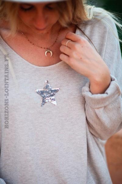 Pull-beige-col-v-petite-étoile-sequins-c176