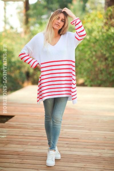 Pull-long-blanc-marinière-rouge--d043