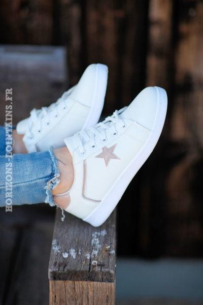 Baskets-blanches-étoile-gold-d01