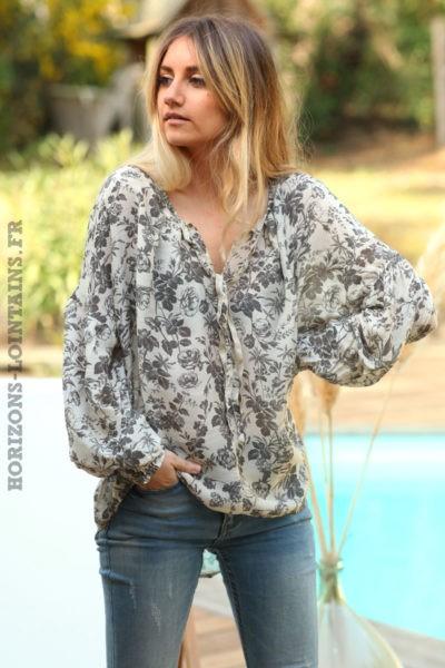 Blouse-grise-légère-motif-floral-gris-vêtements-femme-esprit-bohème-style-hippie-D070