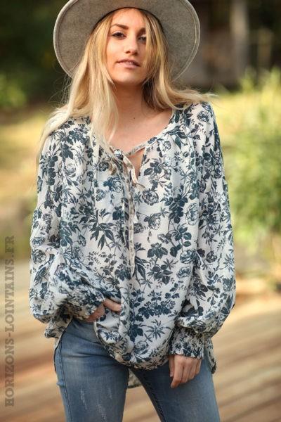Blouse-légère-motif-floral-bleu-petrole-vêtements-femme-esprit-bohème-style-hippie-D070