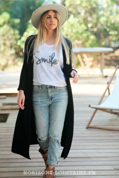 Gilet-noir-fin-extra-long-vêtements-femme-style-bohème-esprit-hippie-veste-longue