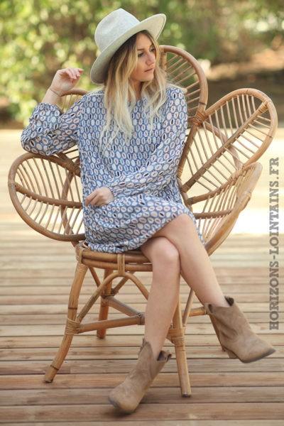 Robe-bleu-jean-fluide-plissée-motifs-arrondis-robes-esprit-bohème-style-hippie-D026